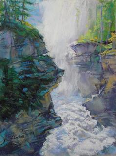 Athabasca Falls  Giclee Print