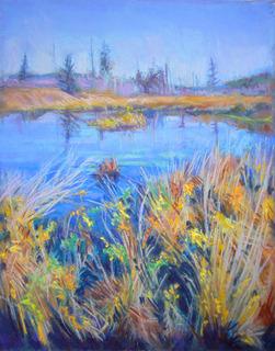 Waving Grasses  Giclee Print