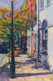 Sunlit Street  Giclee print