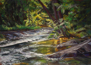 Shallow River Crossing  Giclee Print